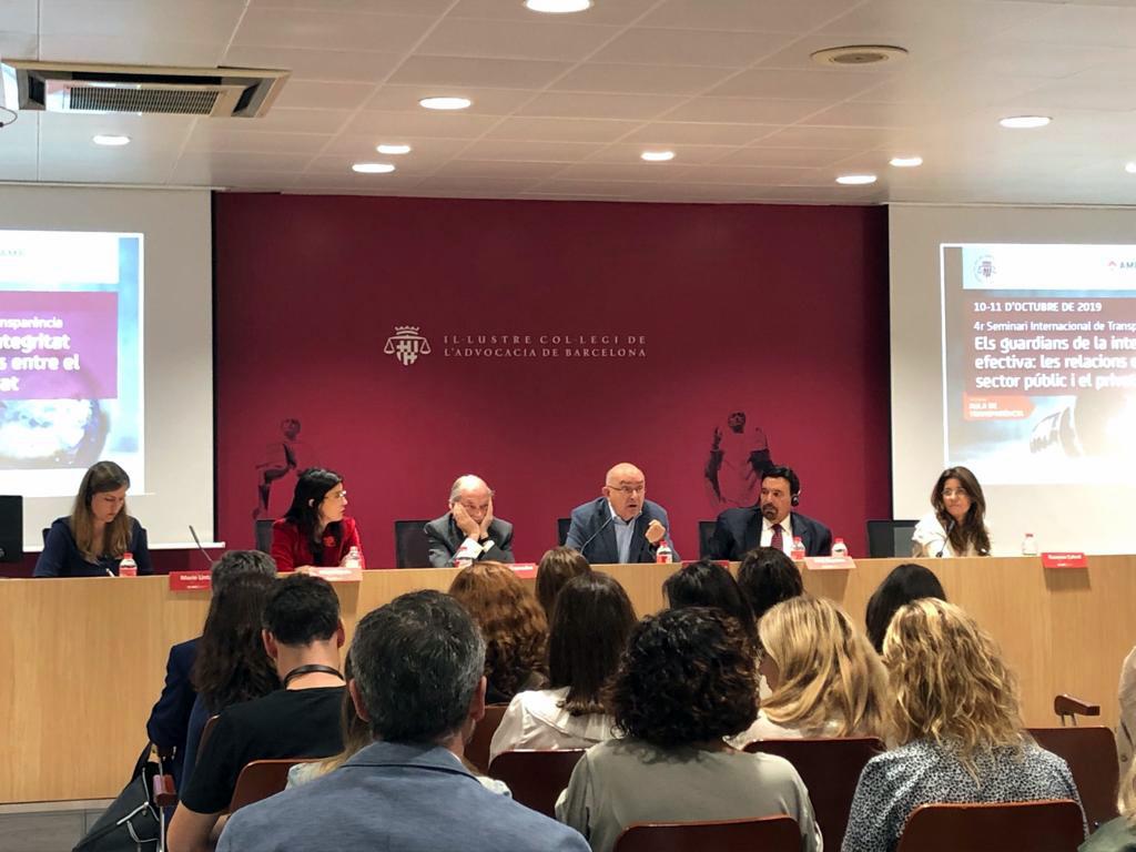 Miguel Ángel Gimeno, director de l'Oficina Antifrau de Catalunya, al debat sobre 'El paper de les institucions en el lideratge de les polítiques d'integritat'