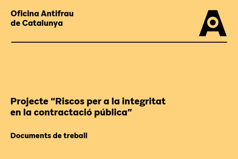 Projecte Riscos per a la integritat en la contractació pública