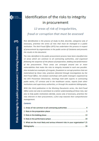Identification of the Risks to Integrity in Procurement